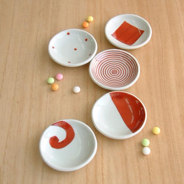 康創窯 赤絵豆皿セット