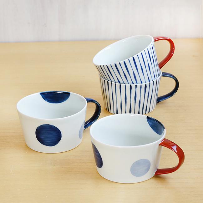 康創窯 藍土オリジナルスープカップ(染付)