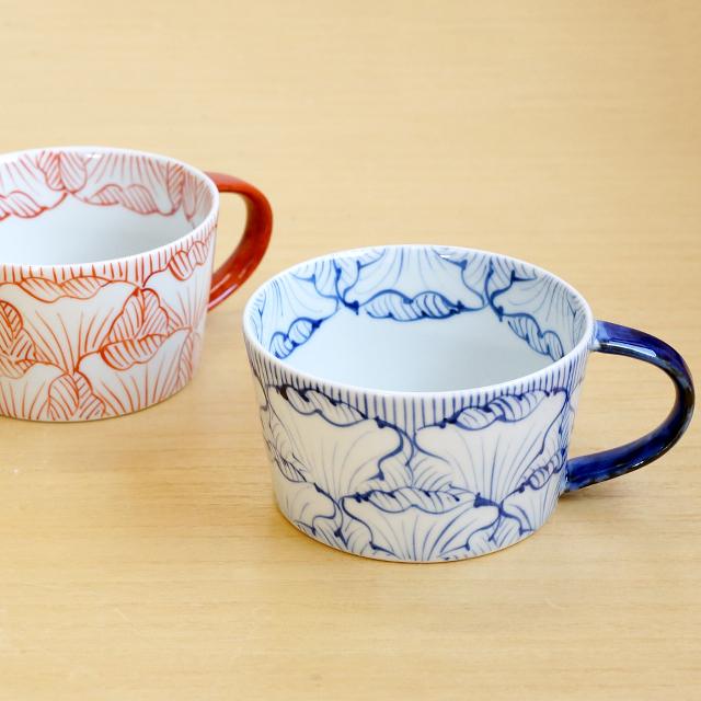 そうた窯 藍土オリジナルスープカップ(花弁文)
