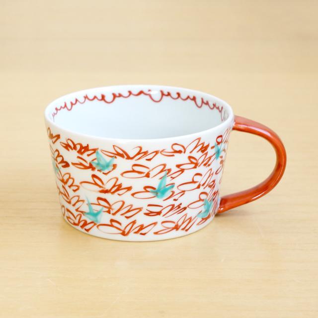 そうた窯 藍土オリジナルスープカップ(風花)