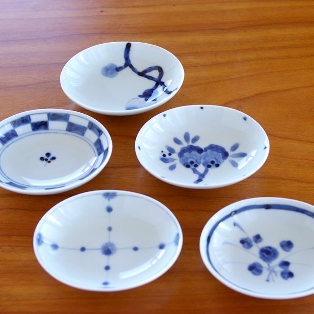 【和食器通販ショップ 藍土な休日】 皓洋窯 染付楕円小付(5種)