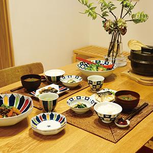 【和食器通販ショップ藍土な休日】光春窯 線花お茶碗(ペア)